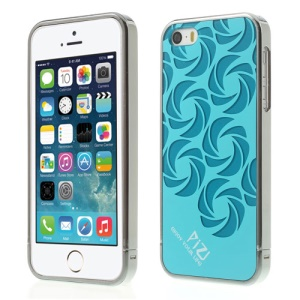 Blue for iPhone 5s 5 PIZU Windmill Pattern Plastic Back Case w/ Detachable Bumper