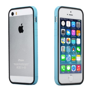 Rock for iPhone 5s 5 Slim Guard Series Dual-color PC + TPU Combo Bumper Case - Black / Blue