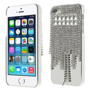 Sparkling Rhinestone Crystal Electroplating Hard Case for iPhone 5s 5 - Transparent