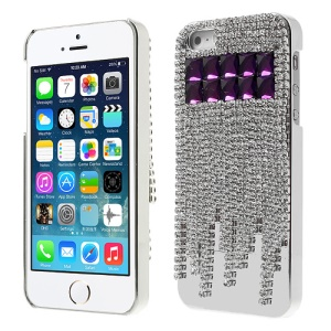Sparkling Rhinestone Crystal Electroplating Hard Shell Case for iPhone 5s 5 - Purple