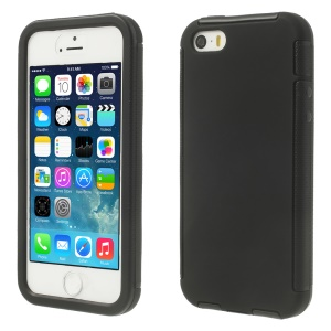 Touchable Full Screen PC + TPU 2 in 1 Hybrid Cover for iPhone 5s 5 - Black