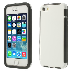 Touchable Full Screen 2 in 1 PC + TPU Hybrid Case for iPhone 5s 5 - White