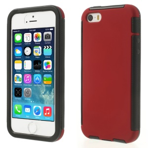 Touchable Full Screen 2 in 1 PC + TPU Hybrid Shell for iPhone 5s 5 - Red