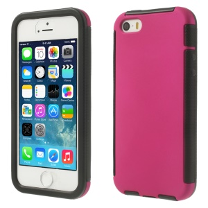 Touchable Full Screen for iPhone 5s 5 Hybrid PC + TPU Protector Case - Rose