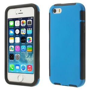 Touchable Full Screen for iPhone 5s 5 Hybrid PC + TPU Cover Case - Blue