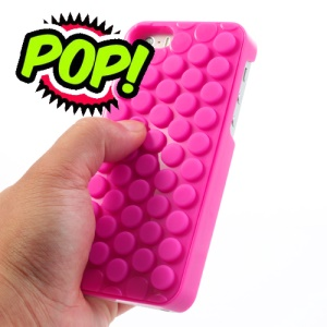 Novelty for iPhone 5s 5 Pop Sound Bubble Wrap Case Cover - Rose