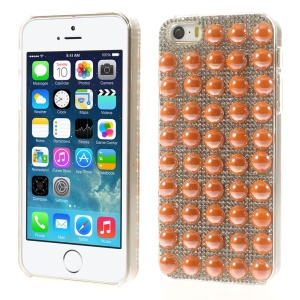 Bling Diamond PC Hard Case for iPhone 5s 5 - Orange