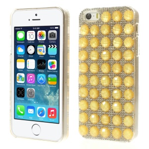 Bling Diamond PC Hard Cover for iPhone 5s 5 - Yellow