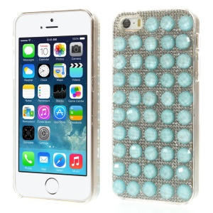 Bling Diamond PC Hard Back Shell for iPhone 5s 5 - Light Blue