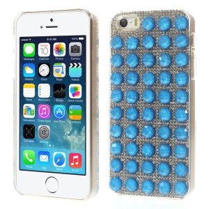 Bling Diamond PC Hard Back Case for iPhone 5s 5 - Dark Blue