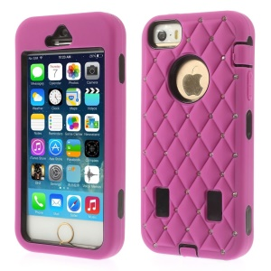 Diamond Starry Sky Silicone & PC Hybrid Shell Case for iPhone 5s 5 - Rose