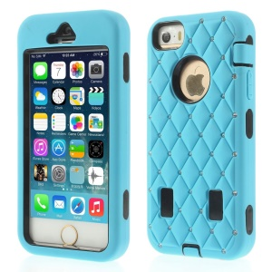 Diamond Starry Sky Silicone & PC Hybrid Protective Cover for iPhone 5s 5 - Blue