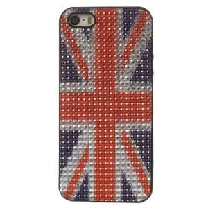 Bling Rhinestone TPU Case for iPhone 5s 5 - Union Jack Flag