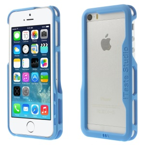 iTaste Studio PC Bumper Frame Backless Cover for iPhone 5s 5 - Blue