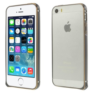 0.7mm Hippocampal Buckle Aluminum Alloy Bumper Frame for iPhone 5s 5 - Gray