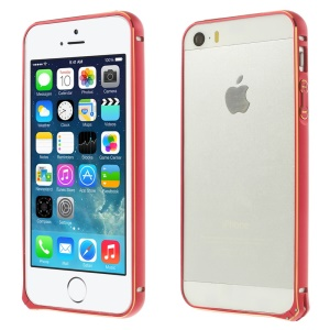 0.7mm Hippocampal Buckle Aluminum Alloy Bumper Frame Case for iPhone 5s 5 - Red