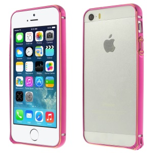 0.7mm Hippocampal Buckle Aluminum Alloy Bumper Frame Cover for iPhone 5s 5 - Rose