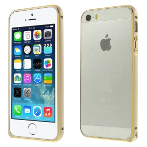 0.7mm Hippocampal Buckle Aluminum Alloy Bumper Frame Shell for iPhone 5s 5 - Champagne