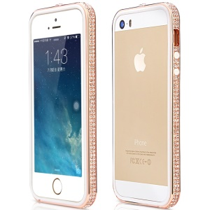 Mooke Elegance Series Diamond Bezel Bumper for iPhone 5s 5 - Rose Gold