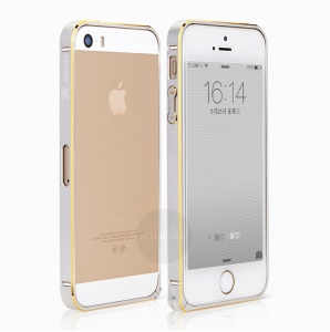 Mooke Elegant 0.7mm Metal Bumper Frame for iPhone 5s 5 - White