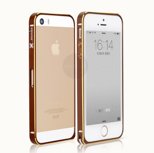 Mooke for iPhone 5s 5 Elegant 0.7mm Metal Bumper Frame - Brown