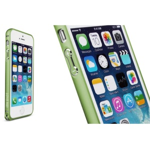 LOVE MEI for iPhone 5s 5 Hippocampal Buckle Curved Metal Bumper Frame Case - Green