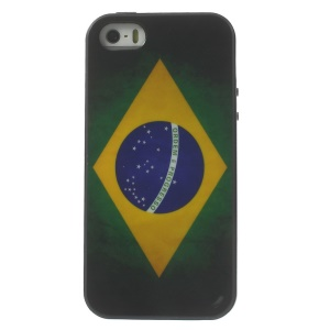 Brazilian Flag Two Pieces PC Frame + TPU Hybrid Case for iPhone 5s 5