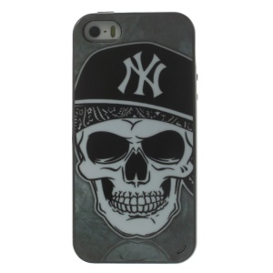 Cool Skull Head Two Pieces PC Frame + TPU Hybrid Shell Case for iPhone 5s 5