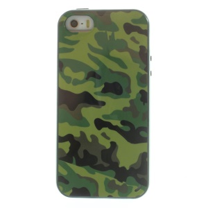 Detachable TPU + PC Frame Hybrid Shell Case for iPhone 5s 5 - Camouflage Pattern