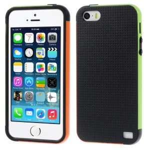 Multi-color Edge PC + TPU Hard Shell for iPhone 5s 5 - Black