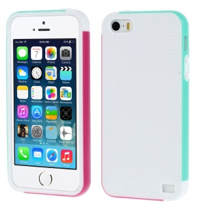 Multi-color Edge PC + TPU Hard Shell for iPhone 5s 5 - White