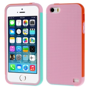 Multi-color Edge PC + TPU Back Case for iPhone 5s 5 - Pink