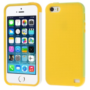 Multi-color Edge PC + TPU Cover for iPhone 5s 5 - Yellow