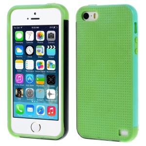 Multi-color Edge PC + TPU Cover for iPhone 5s 5 - Green