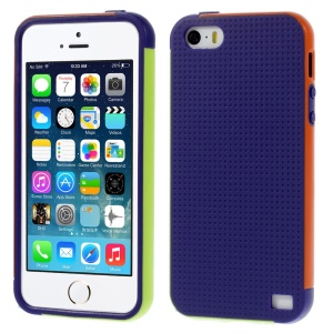 Multi-color Edge PC + TPU Case Shell for iPhone 5s 5 - Purple