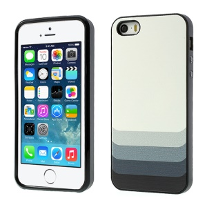 Gradient Stripes PC & TPU Combo Case for iPhone 5 5s - Black