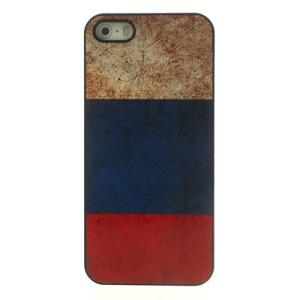 Retro Russian National Flag Glossy Aluminum Hard Plastic Cover for iPhone 5 5s