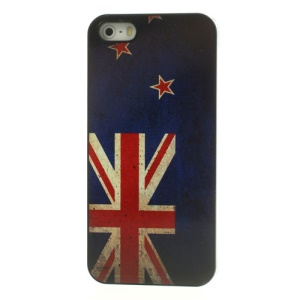 Retro Australia Flag Glossy Aluminum Coated Hard Back Cover for iPhone 5 5s