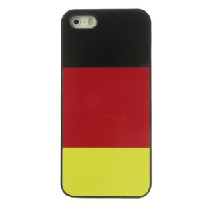 German National Flag for iPhone 5 5s Glossy Aluminum Coated Hard Back Shell