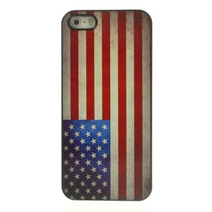 Vintage American National Flag Glossy Aluminum Hard Case for iPhone 5 5s