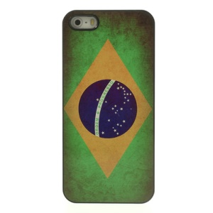 Vintage Brazil Flag Glossy Aluminum Hard Cover for iPhone 5 5s
