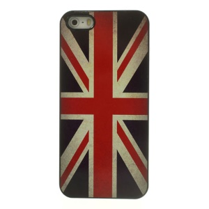 Vintage Union Jack Flag Glossy Aluminum Hard Plastic Cover for iPhone 5 5s