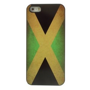 Vintage Flag of Jamaica for iPhone 5 5s Glossy Aluminum Skin Plastic Shell