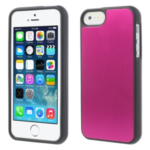 Brushed Aluminum Skin Detachable 2 in 1 Hard Case for iPhone 5s 5 - Rose