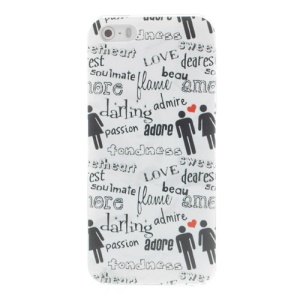 Stylish Characters Pattern Plastic Case Phone Shell for iPhone 5s 5