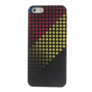 Colored Dots Pattern Plastic Hard Phone Case for iPhone 5s 5