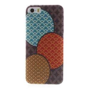 For iPhone 5s 5 Durable Plastic Back Case Cloud Colorful Pattern