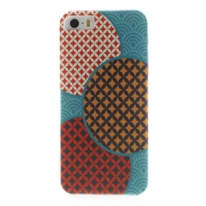 For iPhone 5s 5 Durable Plastic Back Case Colorful Geometric Pattern
