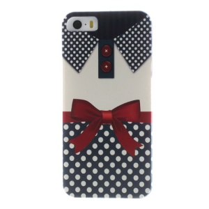 For iPhone 5s 5 Pretty Dots & Bowknot Clothes Durable Hard Case