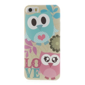 For iPhone 5s 5 Lovely Owls Shielded Hard Shell